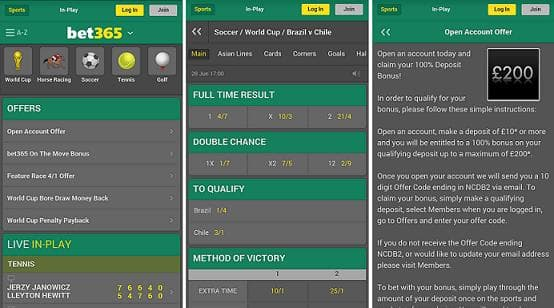 Bet365 mobile Benefits
