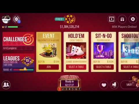 Zynga Poker games