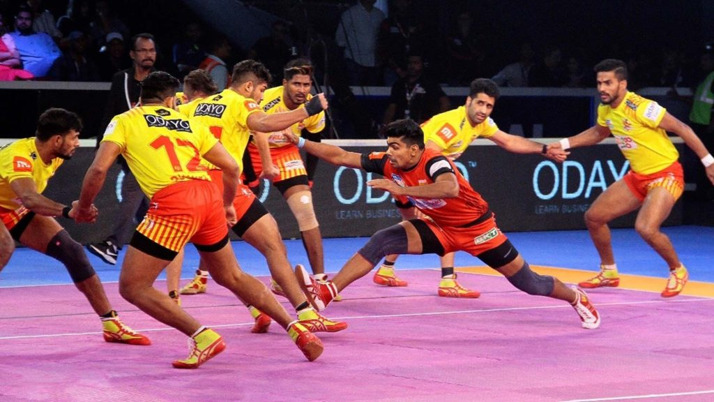 Kabaddi playing