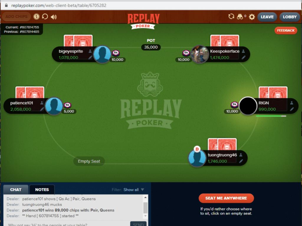 Replay Poker platform