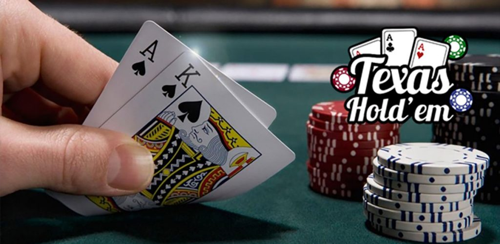 Texas Hold'em play at Pokerstars